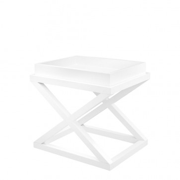 Bočný stolík McArthur waxed white finish