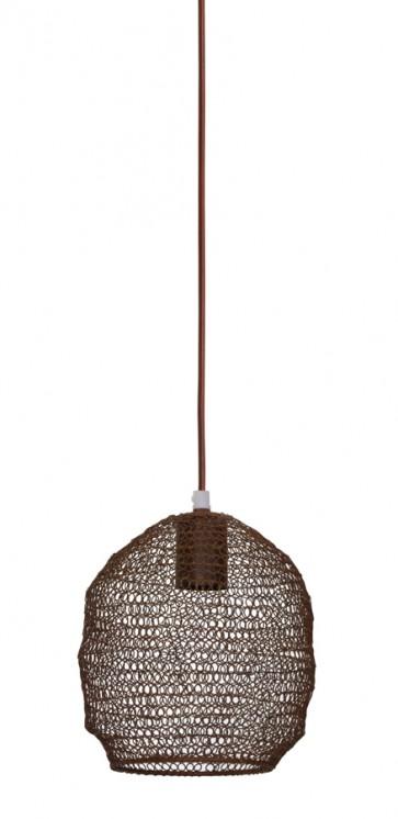 Visiace svietidlo Ø18x20 cm NOLA wire rust