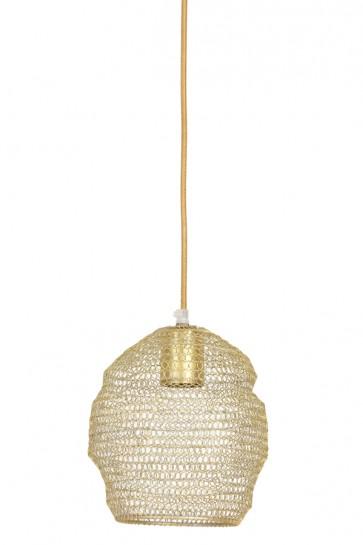 Visiace svietidlo Ø18x20 cm NOLA wire light gold