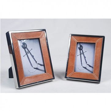 Foto rámik malý s hnedou kožou 10x15 cm