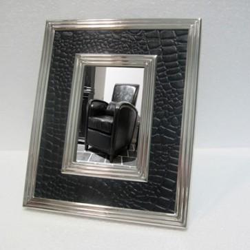 Foto rámik s čiernou kožou 28 cm