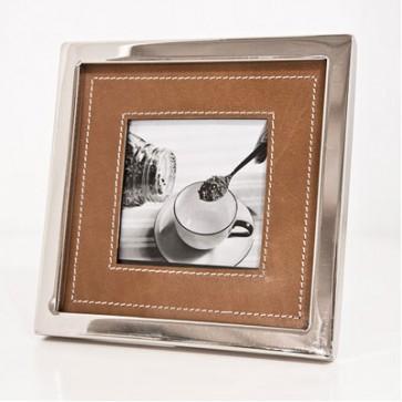 Foto rámik v hnedej koži 10x10