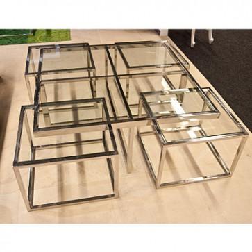 Konferenčný stolík sklenený 100x100x40 cm