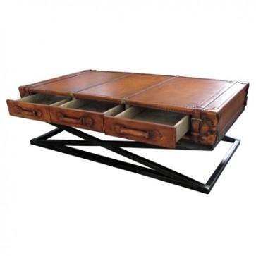 Konferenčný stolík  v koži 185x80x45cm