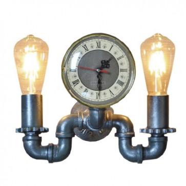 Nástenné hodiny s lampou 25x28