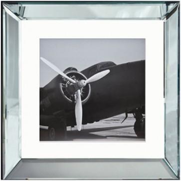 Obraz vrtule v zrkadlovom ráme 40x40