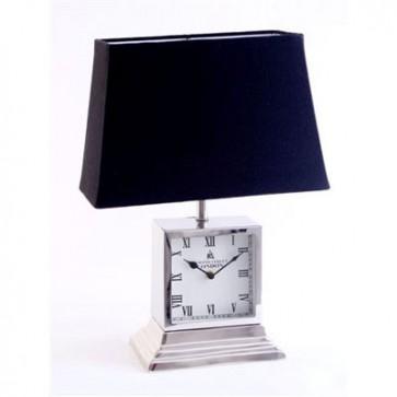 Stolová lampa s hodinkami