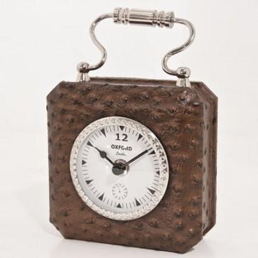 Stolové hodiny v koži 7,5x7,5