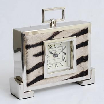 Stolové hodiny zebra 24cm