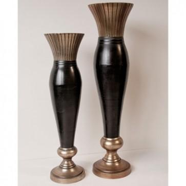 Váza 78 cm, Vintage čierna