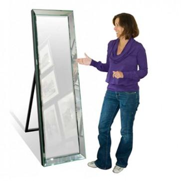Zrkadlo stojaté v zrkadlovom ráme 38x145