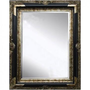 Zrkadlo v čierno-zlatom ráme 60x120 cm
