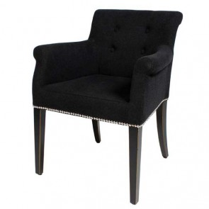 Jedálenská stolička Tampa black cashmere - U
