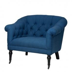 Stolička Bentley blue linen blend