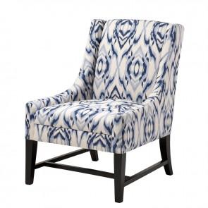 Stolička Harrison blue/off-white design - U