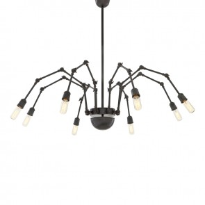 Visiace svietidlo Spider 8 light bronze finish