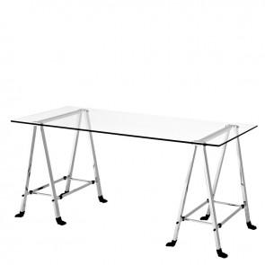 Písací stolík Lorentz nickel finish 170x80cm