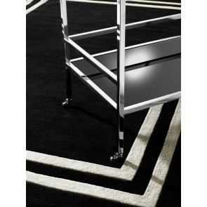 Koberec Celeste black & off-white 200 x 300 cm