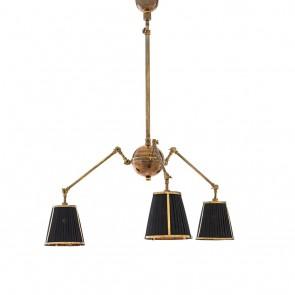 Stropné svietidlo Constance vintage brass finish