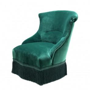 Stolička Etoile roche green velvet