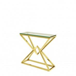 Konzolový stolík Connor 90 x 30 x H. 82 cm gold fin