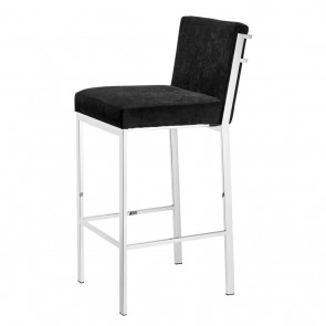 Barová stolička Scott black velvet