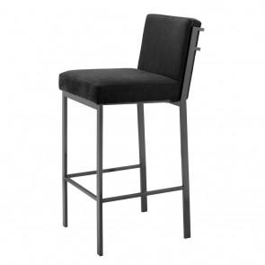 Barová stolička Scott bronze finish black velvet