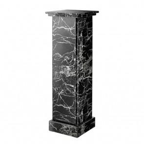 Stĺp Caselli black faux marble