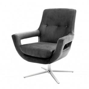 Otočná stolička Flavio granite grey