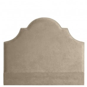 Čelo postele Nicolette greige velvet