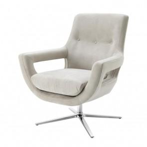 Otočná stolička Flavio pebble grey