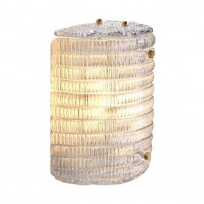Nástenné svietidlo Elix clear glass antique brass finish