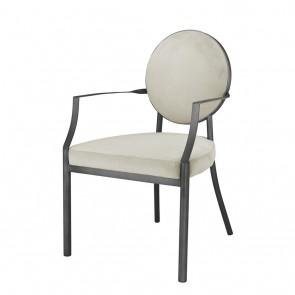 Jedálenská stolička Scribe with arm gunmetal pebble grey