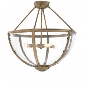 Stropné svietidlo Deveraux antique brass finish