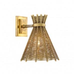 Nástenné svietidlo Kon Tiki vintage brass finish