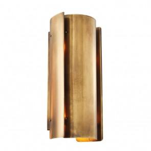 Nástenné svietidlo Verge vintage brass finish