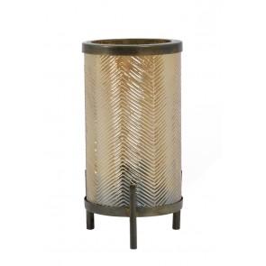 Stolné svietidlo Ř15,5x31 cm TJIBE glass gold luster+antique bronz