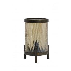Stolné svietidlo Ř13x21,5 cm TJIBE glass gold luster+antique bronz