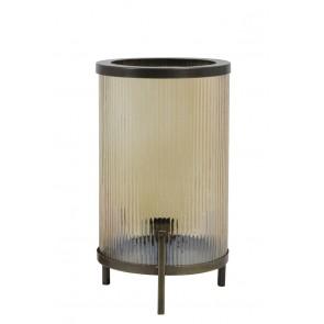 Stolné svietidlo Ř21x35 cm TJARD glass gold luster+antique bronze