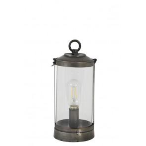 Stolné svietidlo Ř12x30 cm KALVIN dark grey
