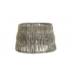 Tienidlo okrúhle rovné 20-14-15 cm ROTAN vertical weaving grey