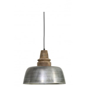 Visiace svietidlo Ø40x33cm MARGO wood weather barn top ant.silver