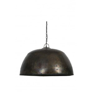 Visiace svietidlo Ř72x44 cm MANOUK black zinc