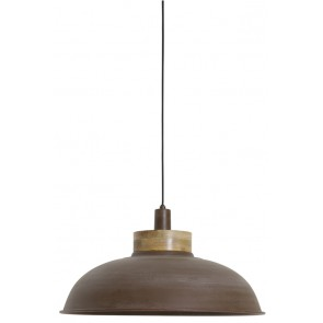 Visiace svietidlo Ř51x29 cm ALETTA old brown with wooden top