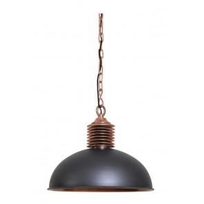Visiace svietidlo Ř52x42cm AMELY industrial grey/antique copper