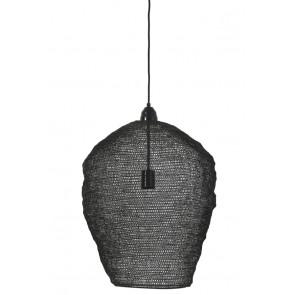 Visiace svietidlo Ø45x60 cm NIKKI wire shiny black