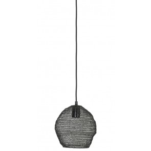 Visiace svietidlo Ø18x20 cm NOLA wire shiny black