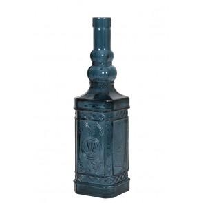 Fľaša Ø16x47 cm GELATE glass dark blue