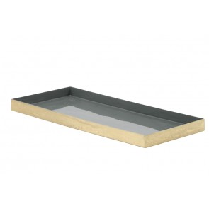 Miska 35x15x1,5 cm BASICO grey