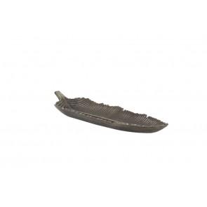 Miska 41,5x11,5x5 cm list black pearl